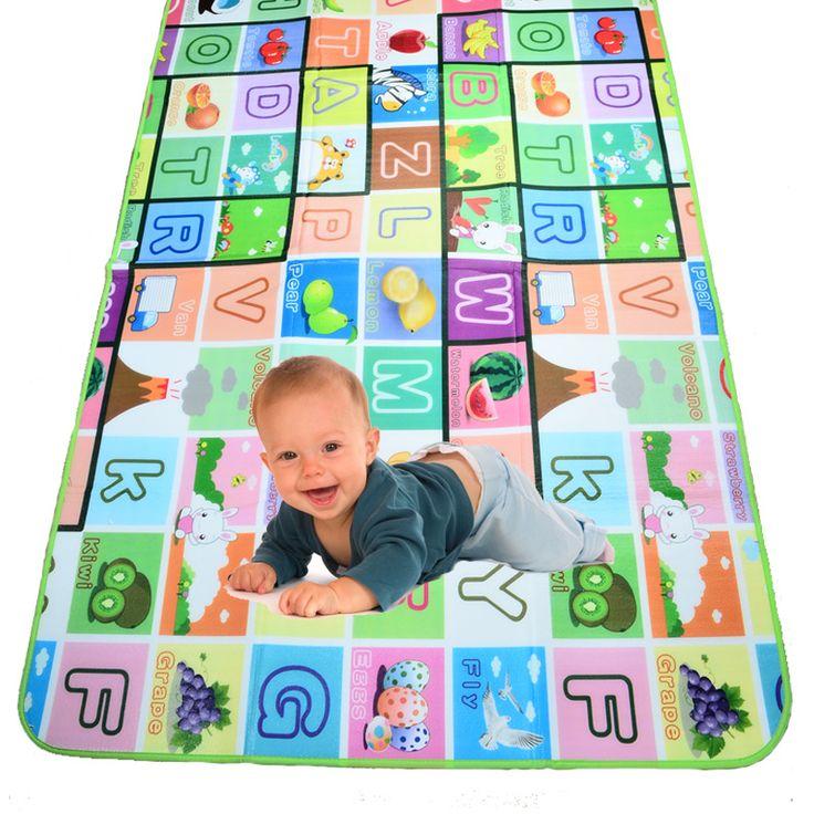 BOHS Multifunctional Baby Activity Mat Foam Fruit Letter Play Crawling Carpet Game & Outdoor Picnic Floor Mat Blanket Pad