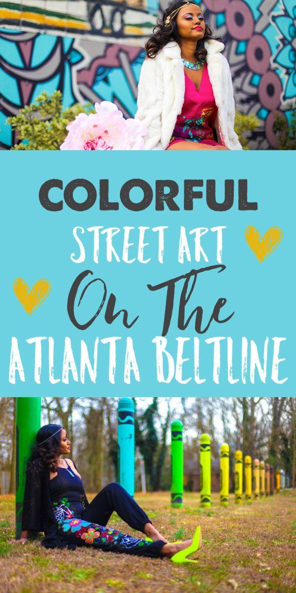 Colorful Street Art Along the Atlanta BeltLine (Atlanta, GA)