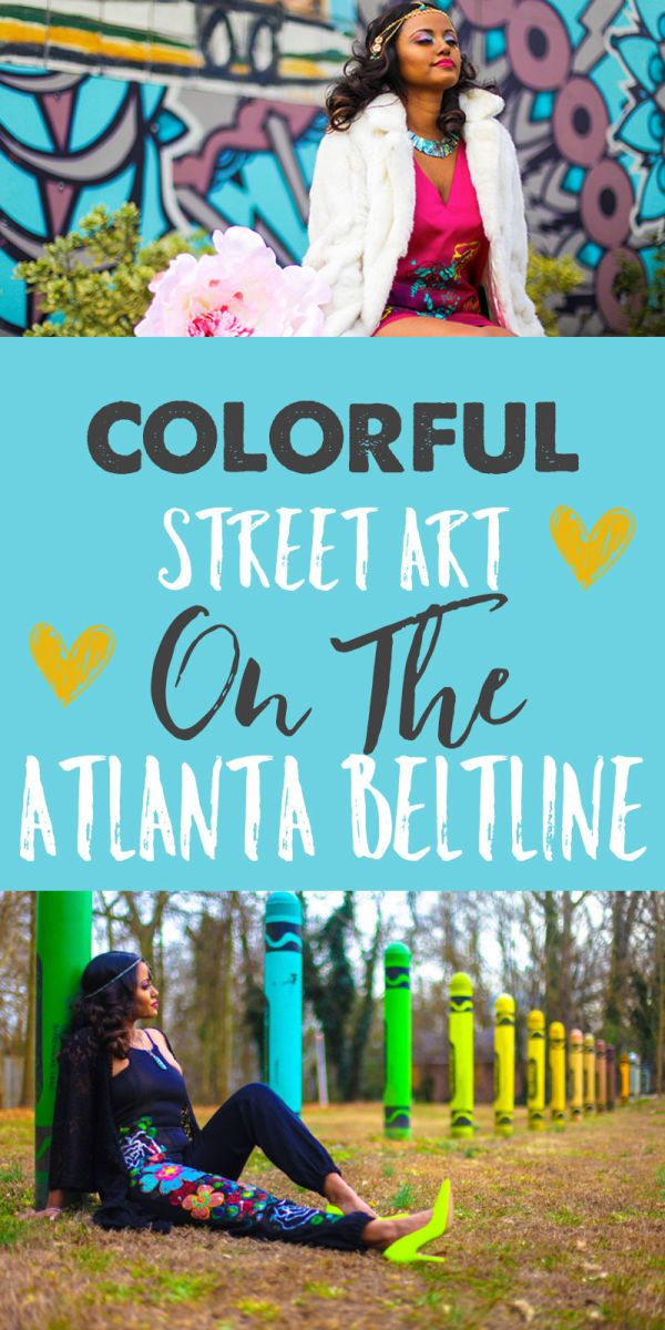 Colorful Street Art Along the Atlanta BeltLine (Atlanta, GA)
