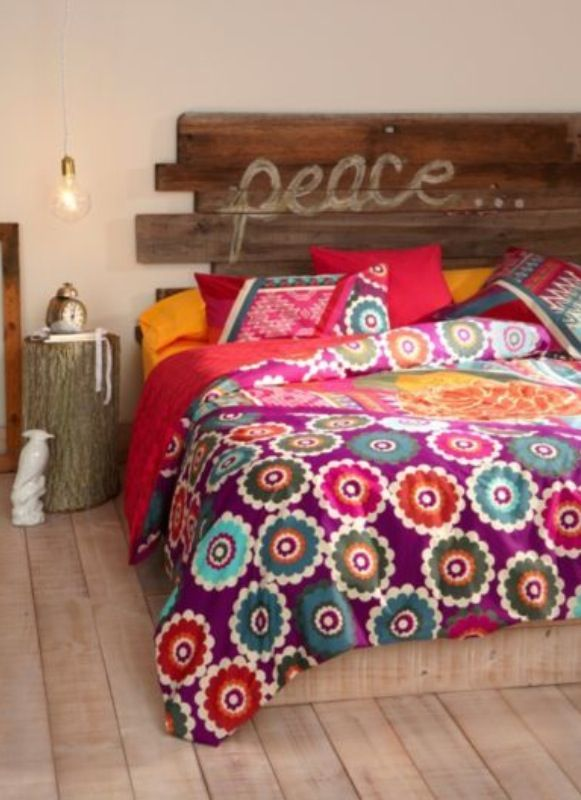 Cabecero palets new home pinterest cabecero palets for Decoracion hogar hippie