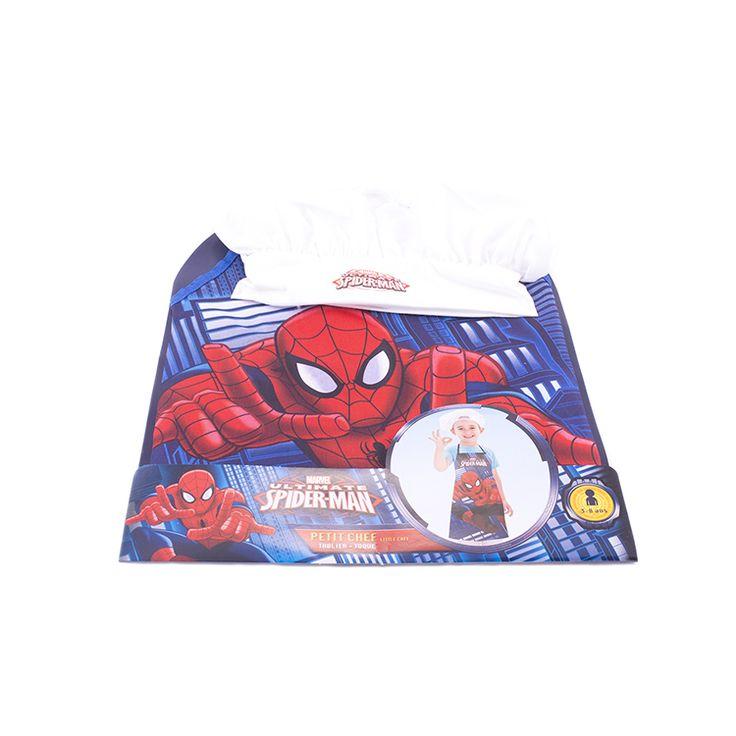 Protégé et à croquer pour cuisiner en famille avec ce tablier et cette toque Spiderman  Les fans du super héros Spiderman vont adorer ce kit de petit chef et ne voudront plus quitter la cuisine.