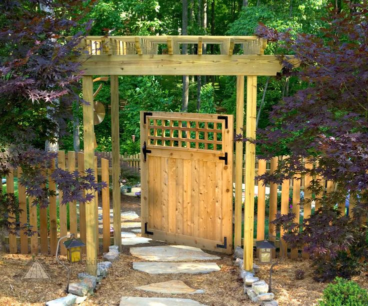 gate arbors create a stylish individual break in your fence and inviting entrance to your yard and home see some of our creative gate arbors and call us