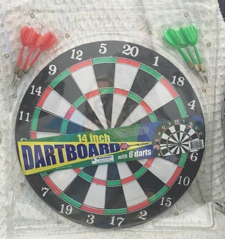 Adult Version 14 Inch Dart Board With 6 Darts