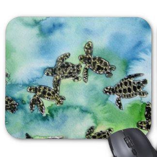 peinture animale de faune de reptile de tortues de tapis de souris
