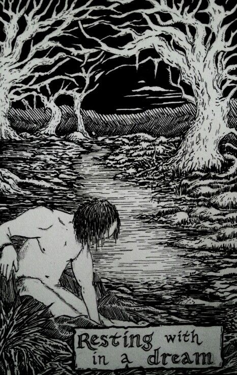 'Resting within a Dream' Pen and Ink