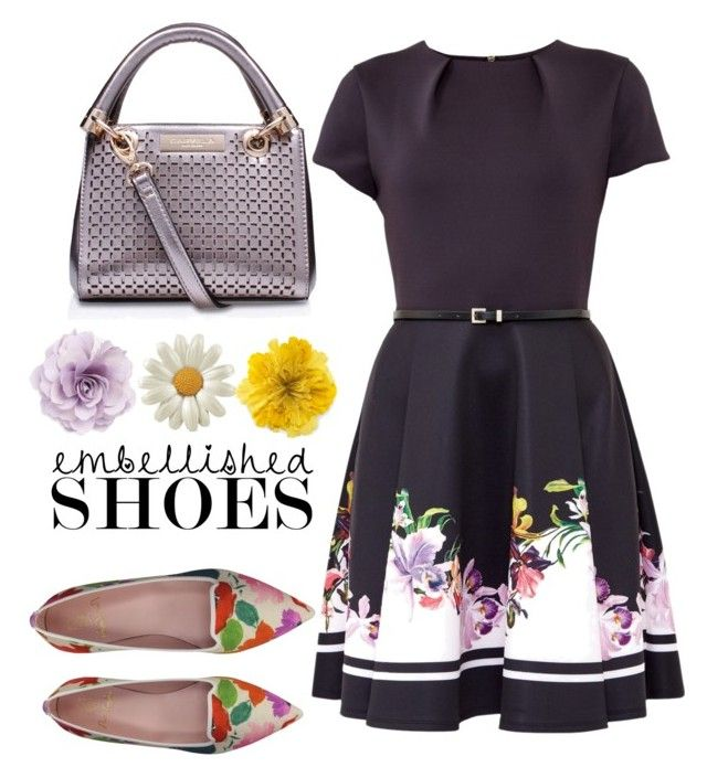 """""""Magic Slippers: Embellished Shoes"""" by laurabosch ❤ liked on Polyvore featuring Pretty Ballerinas, Ted Baker, Cara, Gucci and embellishedshoes"""