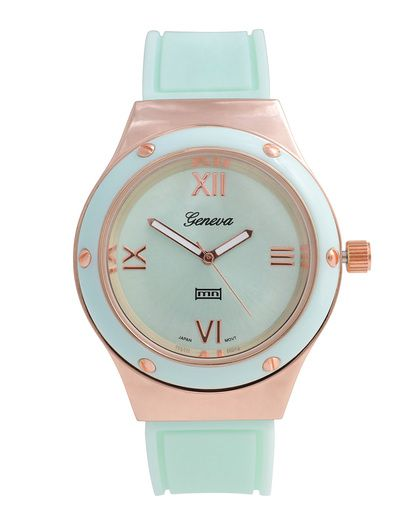 mint + rose gold watch