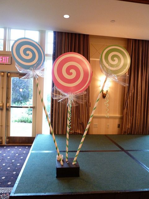 Candy theme Bat Mitzvah with giant lollipop displays near Boston MA by The Prop Factory, via Flickr