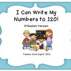 This 22 page packet allows students to trace and then write numbers to 120 independently. It will will help your students meet the first grade Comm...