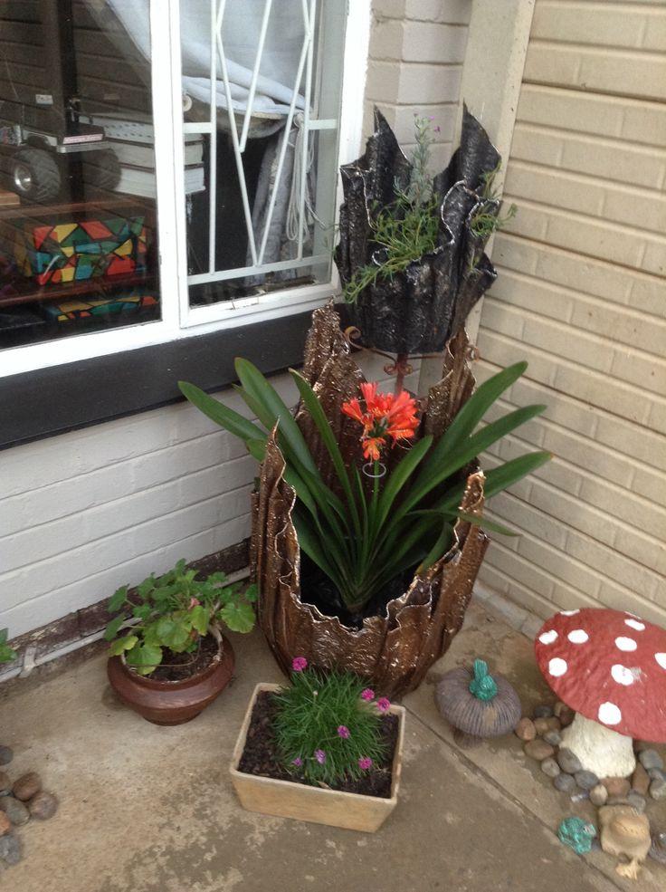 Besig met my tuin hoekie