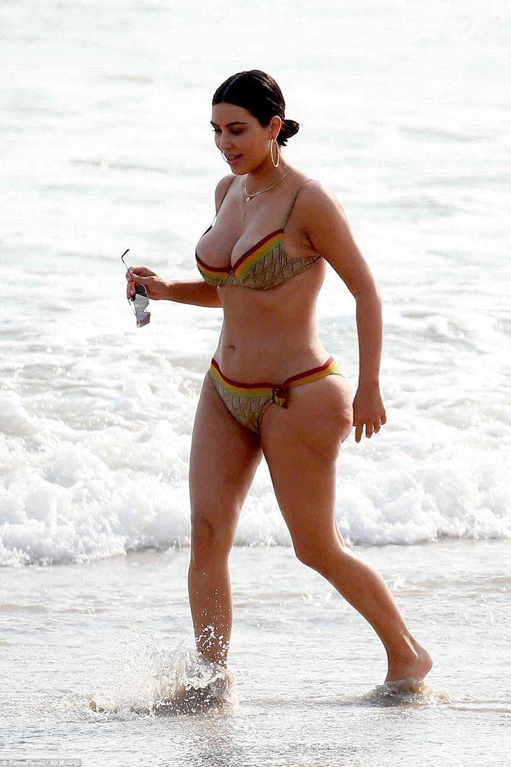 Kim Kardashian busts out of her skimpy bikini #dailymail... - Kim Kardashian Style