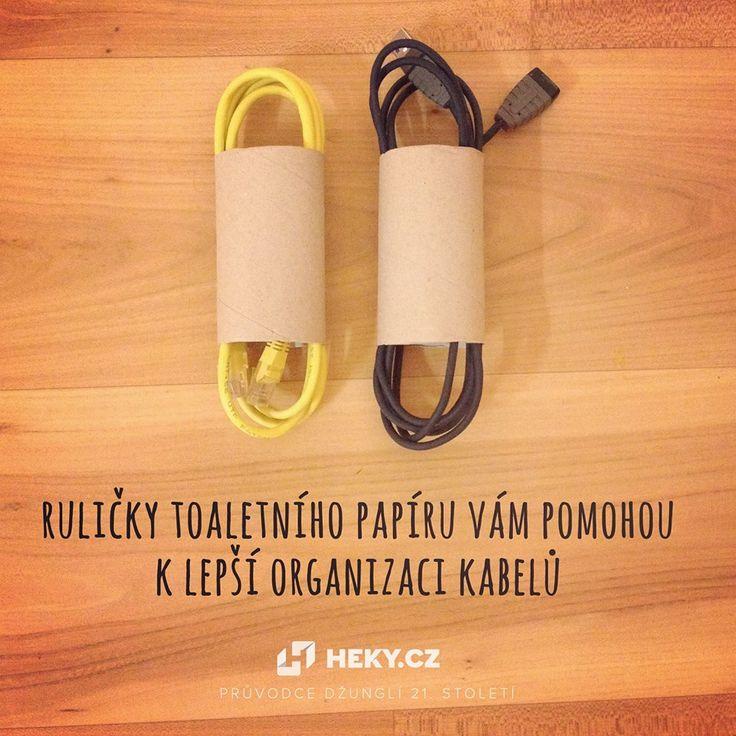 Schovejte kabely do rolek od toaletního papíru