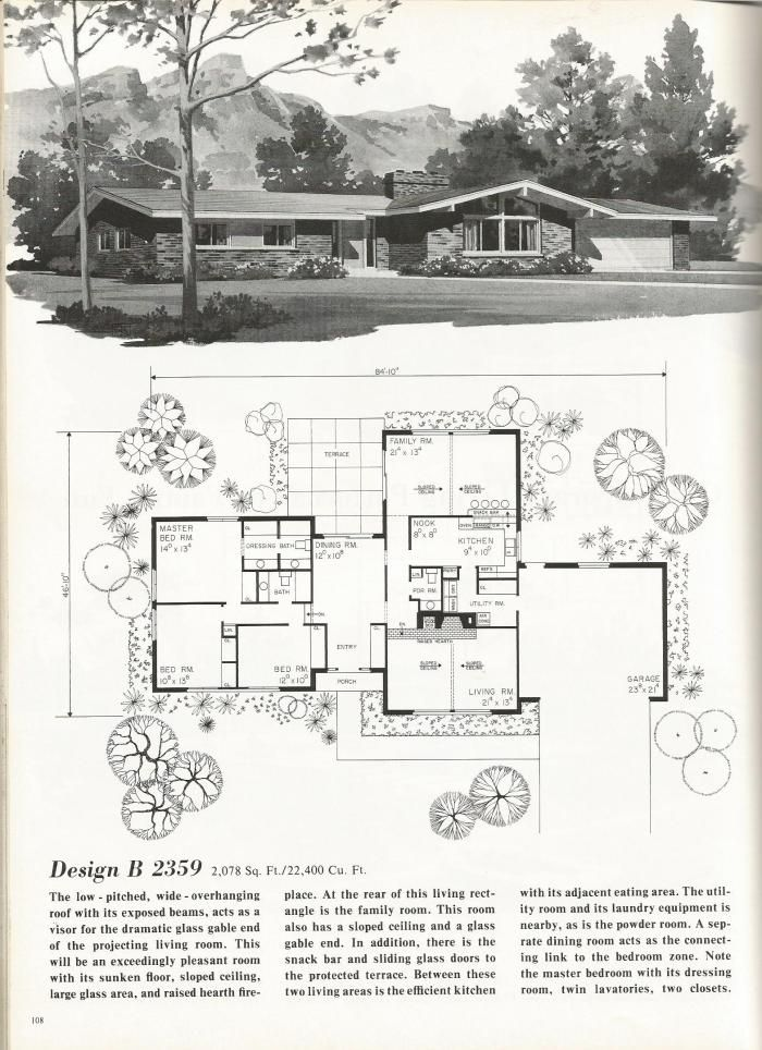 300 best images about mid century modern floor plans on for Mid century modern blueprints