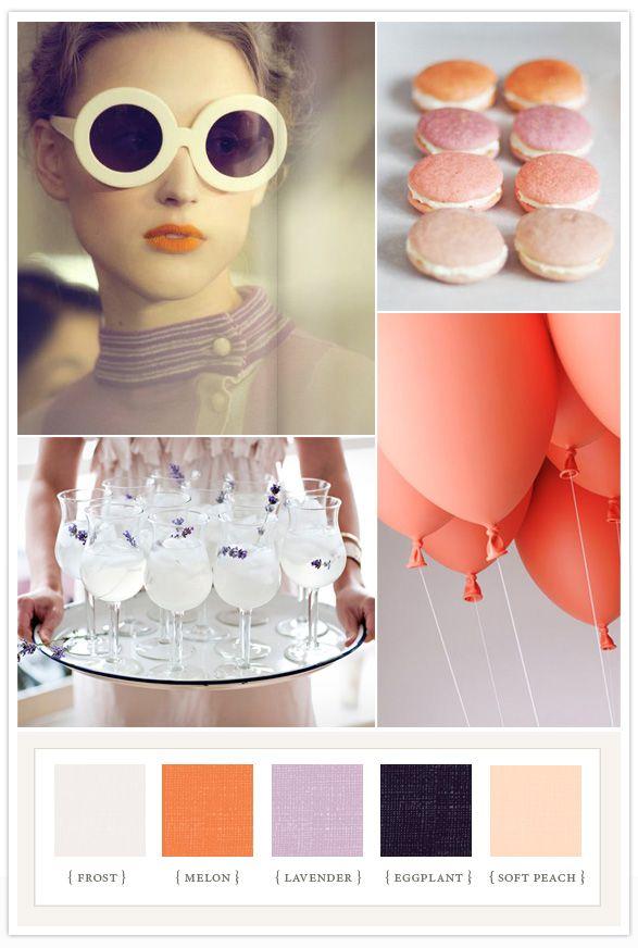 It's Always Sunny when you're Cool :): Colour, Coral, Wedding Ideas, Colors, Layer Cakes, Color Pallets, Eggplant, Color Palette