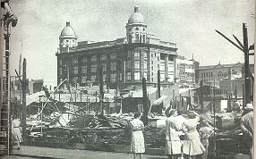 PH 22736. Prahran Municipal Market destroyed by fire, Boxing Day 1950; 26 December 1950.