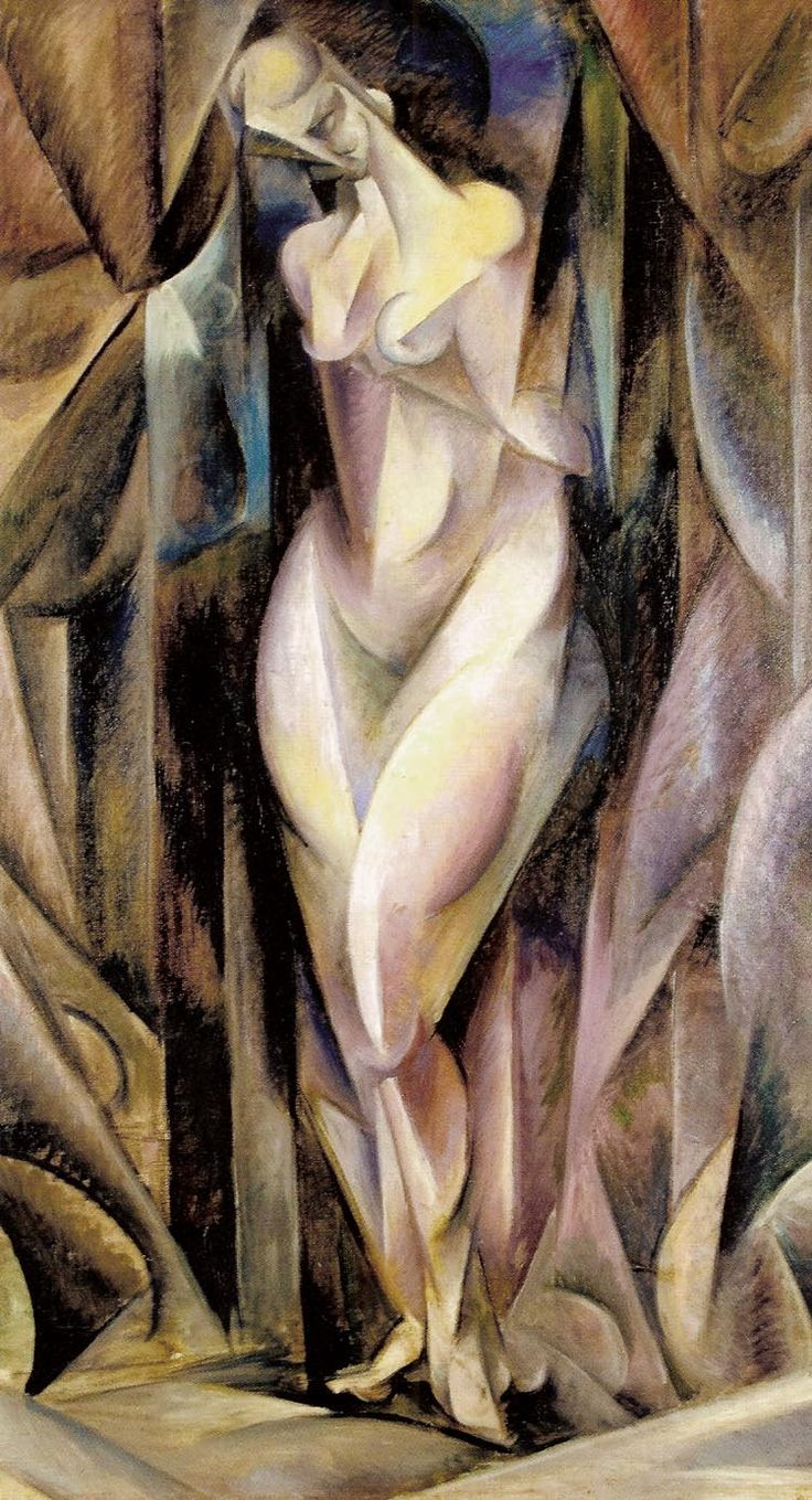 "Zbigniew Pronaszko  ""Formist Nude"", 1917, oil on canvas, 113 x 65 cm, National Museum, Cracow"