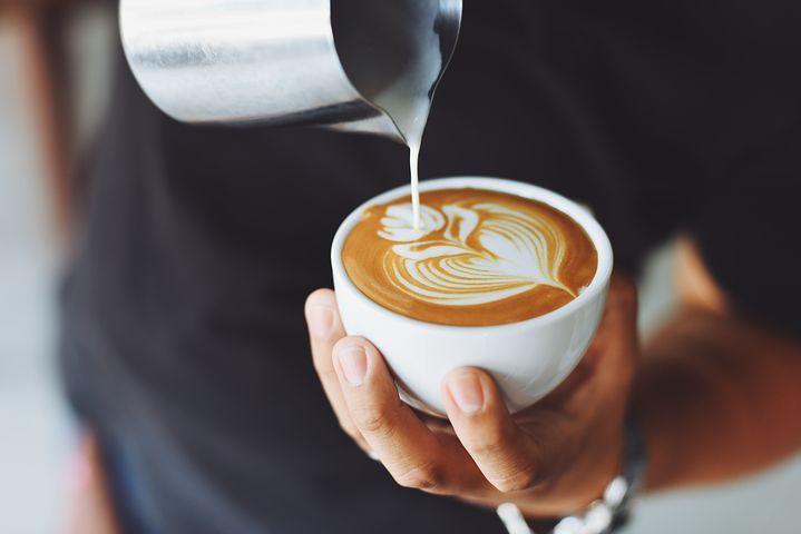 コーヒー, カフェ, ホット, マグカップ, カップ, ホワイト