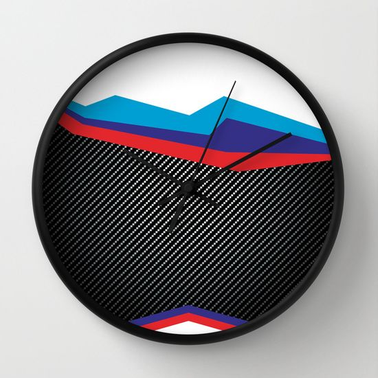 Speed Power Adrenaline Wall Clock available at Society6.com.  Other frame colours also available.