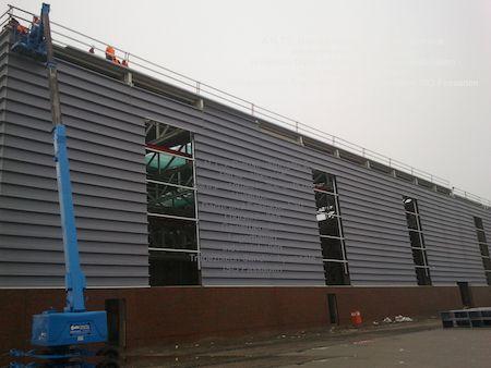 Haren Ems Enercon Industriebau Hallenbau Hebebühne Dach und Fassadenbau Fassade Trpezblech Sandwichpaneele ISO-Paneele Rohbau Stahlbau Stahlhalle SOKA-BAU BG-BAU