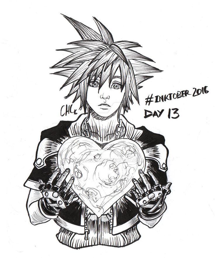 Inktober2016 - Day 13 - K is Kingdom Hearts by Valaquia.deviantart.com on @DeviantArt