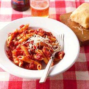 Penne With Arrabiatta Sauce Very Good Arrabiatta Is One Of My Favorite Tomato Based