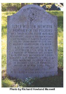The Grave of Elder William Brewster who came over on the Mayflower My 14th great grandfather(1560-1644).