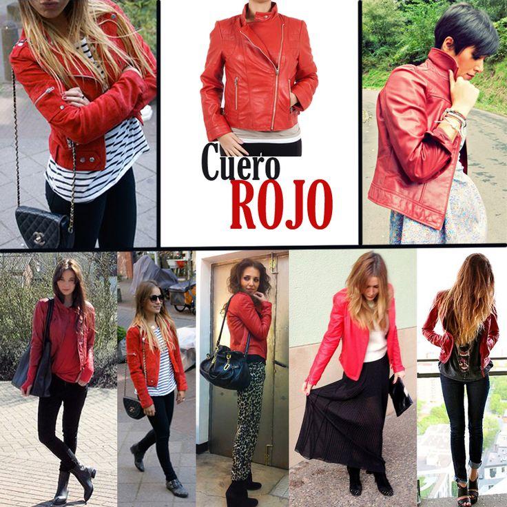 bloggers de moda cazadora de cuero roja