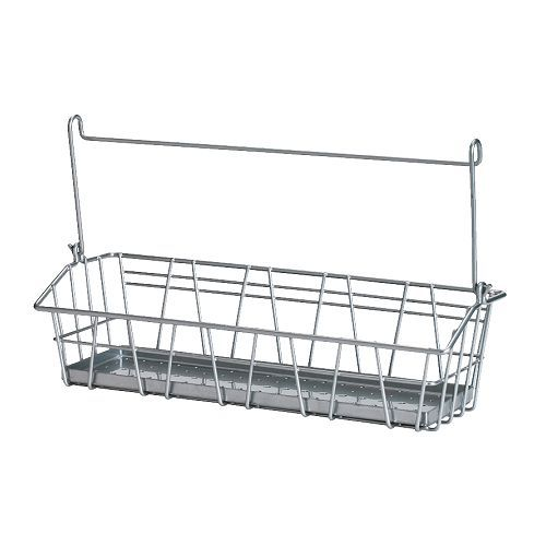 BYGEL Wire basket IKEA Can be hung on BYGEL rail, mounted to the wall or the inside of a kitchen cabinet frame or door. Saves space on the countertop (Saw these on Beneath My Heart)  Need these!