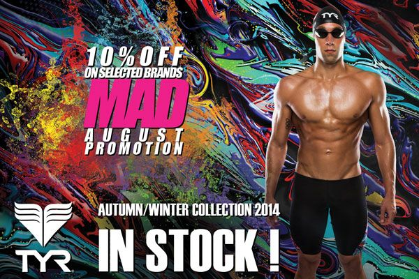 "MAD August #Promotion: Get 10% OFF all #TYR products !  http://www.proswimwear.co.uk/brands/tyr-swimwear.html?limit=60  Just enter "" mad2 "" at checkout to receive 10% off your TYR purchase. Voucher is valid till 13/08/2014  #discount #sale"