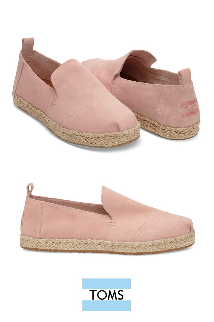 Introducing the Pale Pink Suede Women's Deconstructed Alpargata Espadrilles from TOMS - a raw, minimal, laid-back take on our original slip-on Classics.