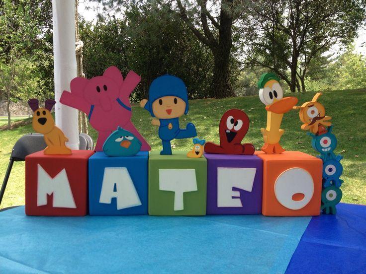 Centro de mesa Pocoyo!! | pocoyo | Pinterest | Pocoyo and Mesas