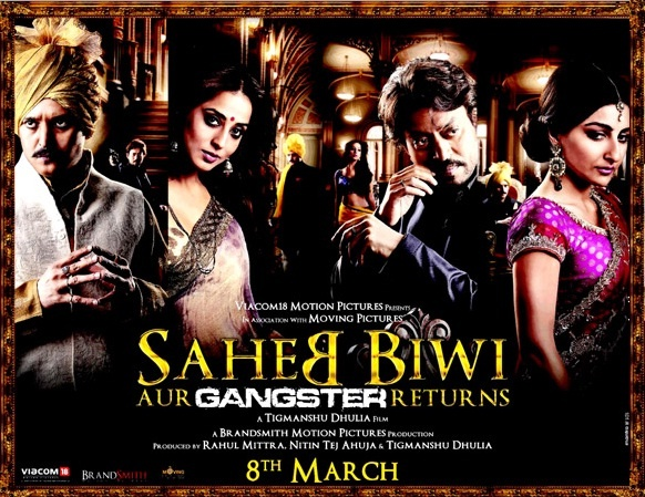 Saheb, Biwi Aur Gangster Returns(2013) Movie Review :   MoviePsycho Rating : 3.7/5  The Royal Scandal, the war for power and fight for money continues with the return of 'Saheb Biwi Aur Gangster'. Aditya Pratap Singh (Jimmy Shergill) is crippled and is trying to recover from the physical disability and his wife's betrayal. The lover cum seductress Madhavi Devi (Mahie Gill) is now a politician. Her relationship with Aditya may have broken to shambles but her relation...