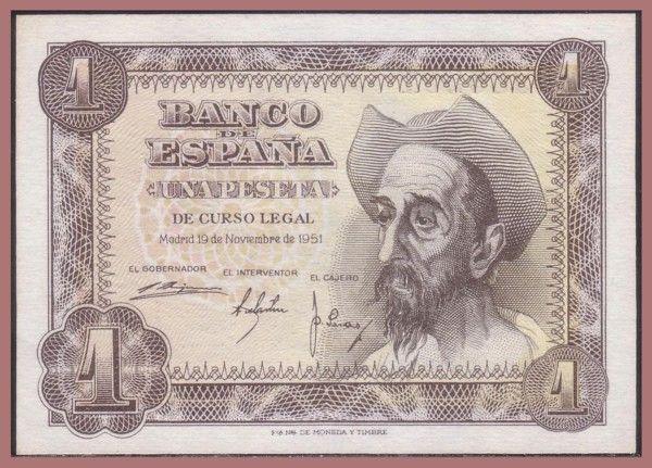 Billete de 1 Peseta 1951 [José Luis López Sánchez-Toda]