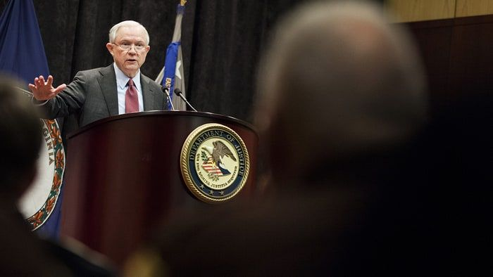 "Jeff Sessions Goes Full 'Reefer Madness' on Pot  Attorney general says marijuana is ""only slightly less awful"" than heroin"