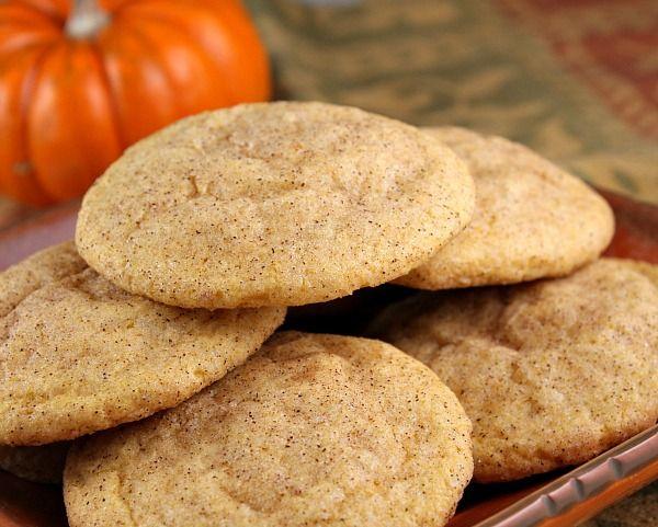 Pumpkin Snickerdoodles: Desserts, Pumpkin Recipes, Fall Flavored Cookies, Pumpkin Snickerdoodles, Pumpkin Cookies, Decor Cookies, Fall Treats, Snickerdoodles Cookies, Snickers Doodles