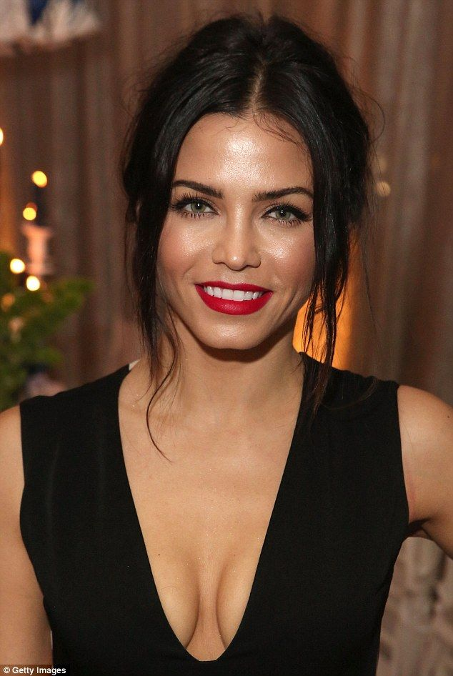 Jenna Dewan-Tatum displays chest in jumpsuit with plunging neckline #dailymail