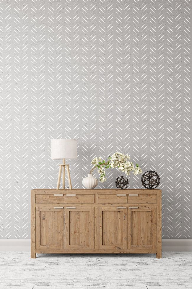 Herringbone Simple large decorative Scandinavian wall stencil