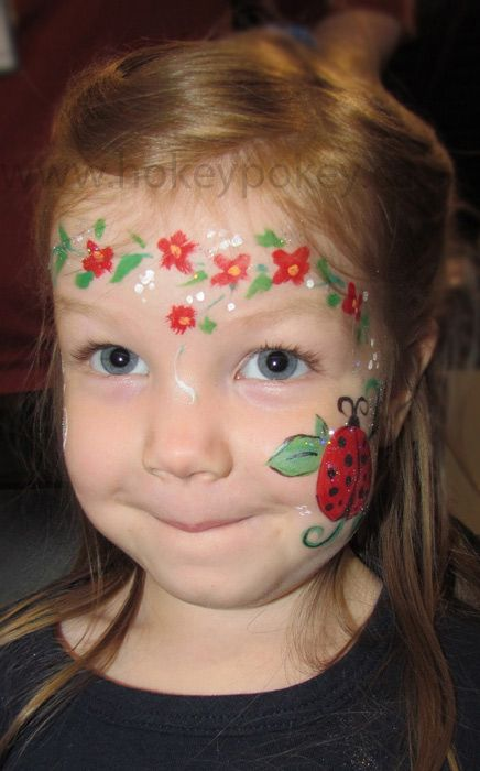 Cute+child's+face+painting | Bug Face Paint