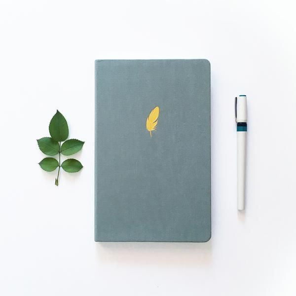 Floating Feather - Dot Grid Notebook – Archer and Olive