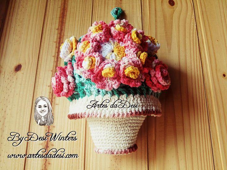 Artes da Desi: Puxa Saco Vaso de flores http://www.artesdadesi.com/2014/10/puxa-saco-vaso-de-flores.html