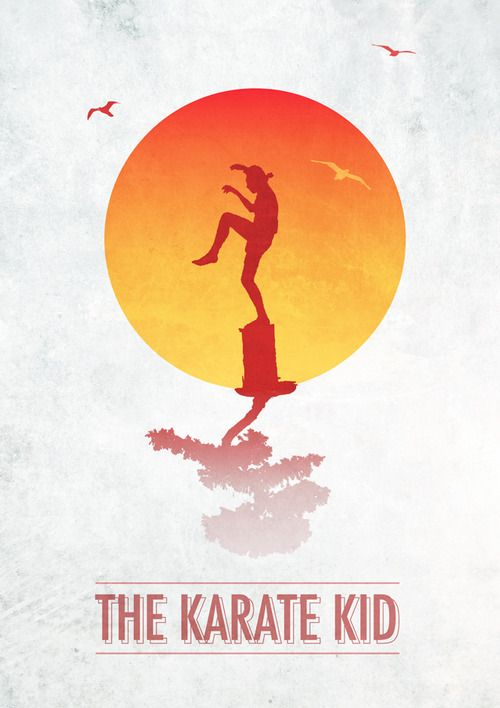 The Karate Kid by Ross McCully - Graphic Design - Poster movie film cinema - minimalist