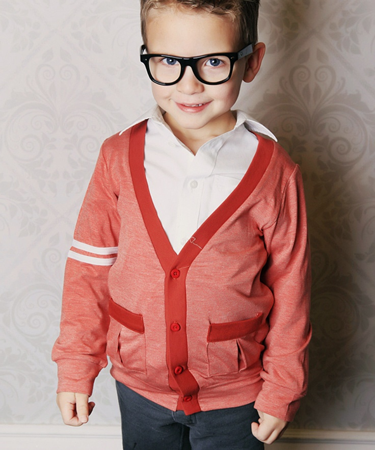 Red Slub #Cardigan from Taylor Joelle Designs on #zulily #boy #fashion #style #kids