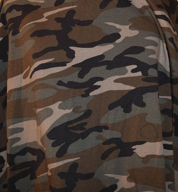 7 8 Yard Fabric Army Print Knit Stretch Emo Olive Green Military Camouflage Militia Stretchy Jersey
