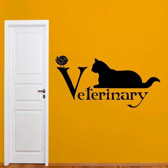 Wall Decals Domestic Animals Veterinary Cat Pets by BestDecals