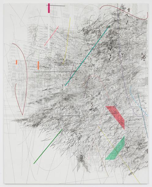 Julie Mehretu Mogamma: Part 1, 2012 Ink and acrylic on canvas 457.2 x 365.8 cm