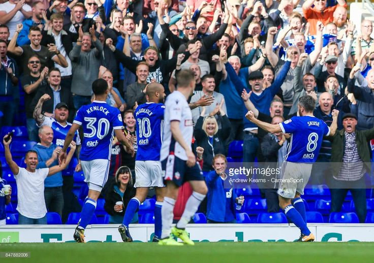 Ipswich Town's Cole Skuse celebrates scoring his side's first goal in front of the home fans during the Sky Bet Championship match between Ipswich Town and Bolton Wanderers at Portman Road on September 16, 2017 in Ipswich, England.
