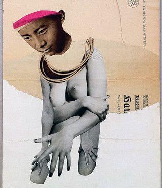 Kerstin Stephan: Asian Woman, 2011 www.kidsofdada.com/products/asian-woman-2011 #nude #woman #collage