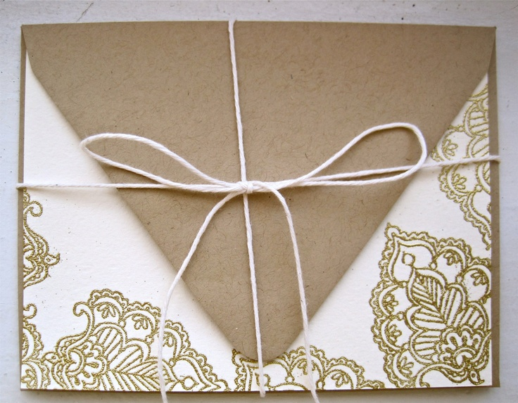 Gold and White, Blank Card Set. $16.00, via Etsy.