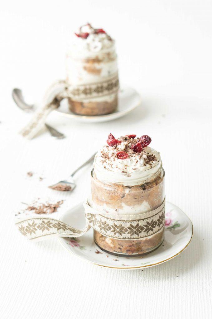 Chocolate and cranberry Tiramisù