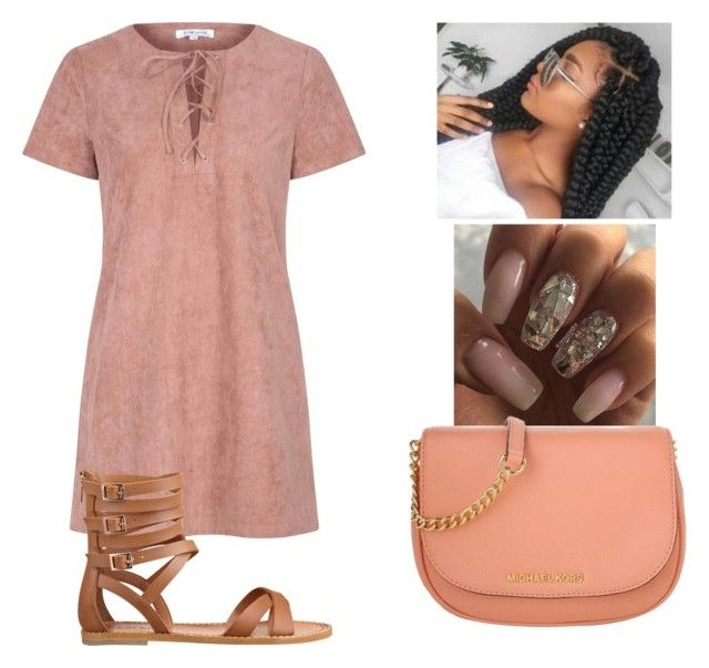"""""""What's Poppin? You are """" by ohthatsmani ❤ liked on Polyvore featuring Michael Kors, Glamorous and Nine West"""